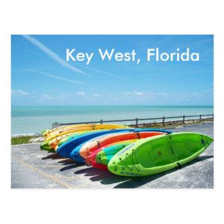 Key Westフロリダのビーチの海の郵便はがきの写真 ポストカード