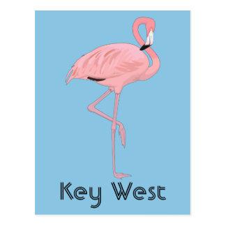 Key Westフロリダのピンクのフラミンゴ ポストカード
