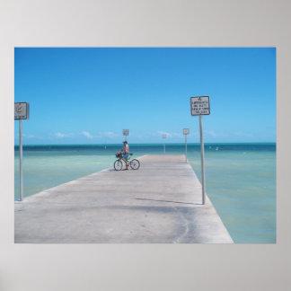 Key Westフロリダの水の海洋のオーシャンビューポスター ポスター