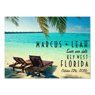 Key West、フロリダの行先の結婚式の保存の日付 カード