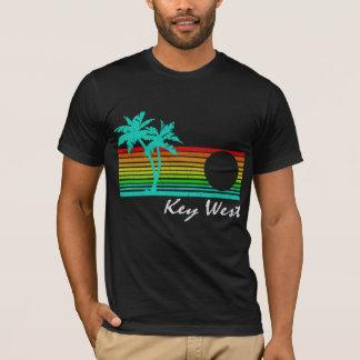 Key West -ヴィンテージの動揺してなデザイン Tシャツ