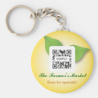 Keychainのテンプレートのファーマーズマーケット キーホルダー