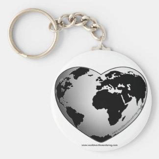 KEYCHAINの価値を持つ世界さまようことを キーホルダー