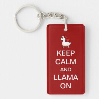 Keychainの平静そしてラマを飼って下さい キーホルダー