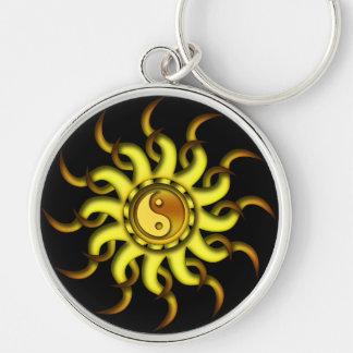 Keychainの陰陽日曜日、タンの金黄色 キーホルダー