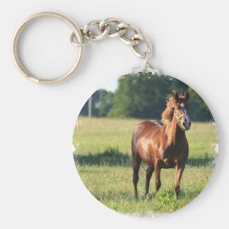 Keychainを立てているクリの馬 キーホルダー