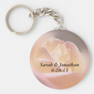 Keychainを結婚している夢みるような黄色バラ キーホルダー