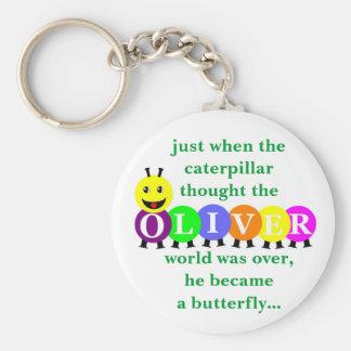 Keychainを言っているオリバーの幼虫 キーホルダー