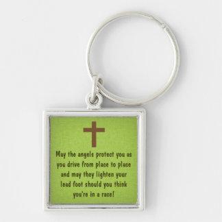 Keychainを賛美する緑の運転者の祈りの言葉 キーホルダー