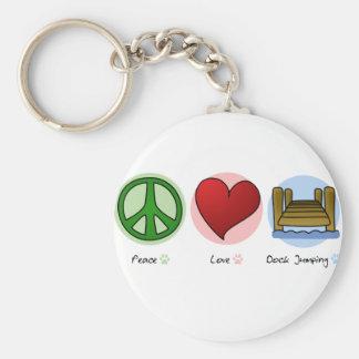 Keychainを跳ぶ平和愛波止場 キーホルダー