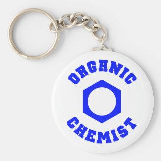 Keychainオーガニックな化学者 ベーシック丸型缶キーホルダー