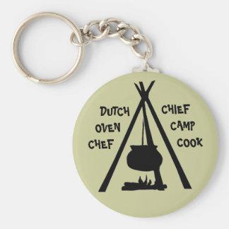 KEYCHAINキャンプGLAMPINGのダッチオーブンのシェフの料理 キーホルダー