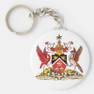 Keychainトリニダードトバゴの紋章付き外衣 キーホルダー