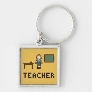 Keychainピクセル学校教師 キーホルダー