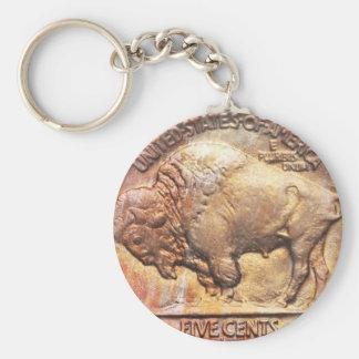 Keychainヴィンテージのバッファローのニッケルの硬貨コレクター キーホルダー