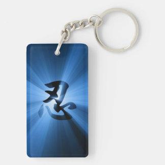 Keychain青いNINの漢字の日曜日の破烈 キーホルダー