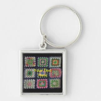 Keychain -おばあさんの正方形のアフガニスタン人 キーホルダー