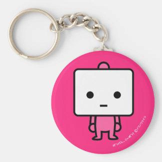 Keychain -豆腐- PinkBack キーホルダー