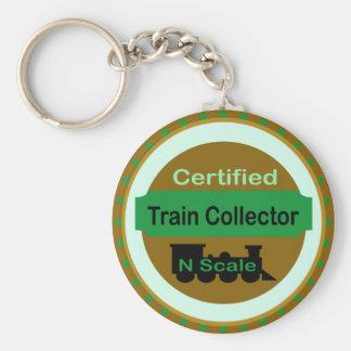 Keychain Nのスケールの列車のコレクター キーホルダー
