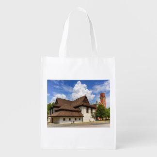 Kezmarok、スロバキアの木のarticular教会 エコバッグ