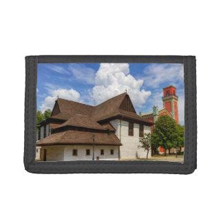 Kezmarok、スロバキアの木のarticular教会 ナイロン三つ折りウォレット