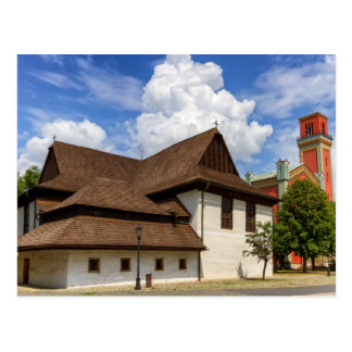 Kezmarok、スロバキアの木のarticular教会 ポストカード