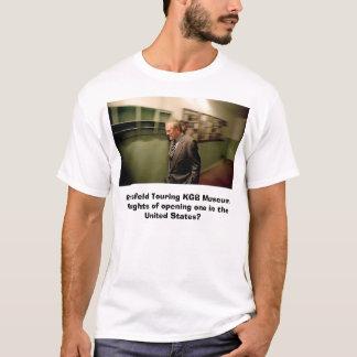 KGB博物館を旅行しているRumsfeld Tシャツ