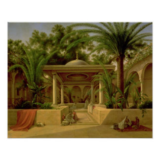 Khabanijaの噴水、カイロ1845年 ポスター