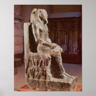 Khafreの彫像は即位しました ポスター
