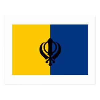 Khalistanの旗 ポストカード