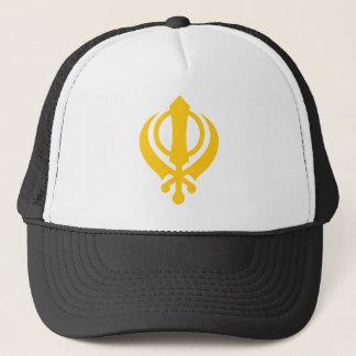 Khandaのシーク教徒の金ゴールド キャップ