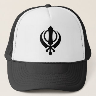 Khandaのシーク教徒の黒 キャップ