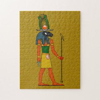 Khnumの古代エジプトの神 ジグソーパズル