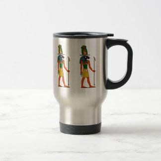 Khnumの古代エジプトの神 トラベルマグ