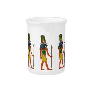 Khnumの古代エジプトの神 ピッチャー