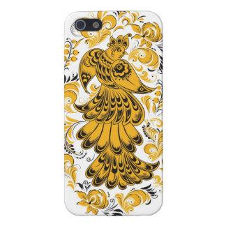 Khokhloma (確実なHohloma)スラブのFirebird iPhone 5 カバー