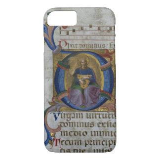 Kiを描写している氏531 f.169v Historiatedのイニシャル「D」 iPhone 8/7ケース