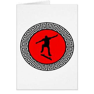KICKFIP DATの赤 グリーティングカード