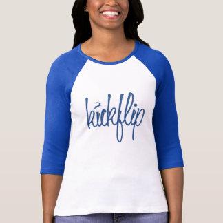 Kickflipの原稿のティー(女性) Tシャツ
