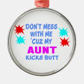 KICKS BUTT私の叔母さん メタルオーナメント