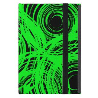 Kickstandのネオン緑の回転のiPad Miniケース iPad Mini ケース