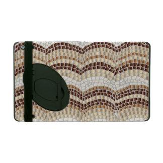 KickstandのベージュモザイクiPad 2/3/4の箱 iPad カバー