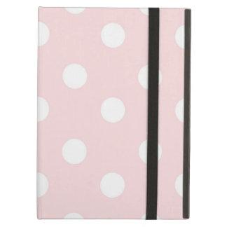Kickstand無しの淡い色のな水玉模様のiPadの空気箱 iPad Airケース