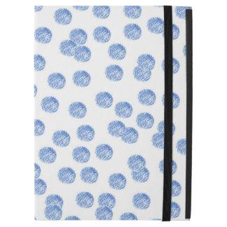 "Kickstand無しの青い水玉模様のiPadのプロ場合 iPad Pro 12.9"" ケース"