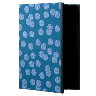 Kickstand無しの青い水玉模様のiPadの空気2箱 Powis iPad Air 2 ケース