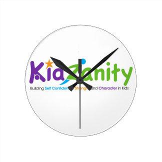 KidZanityのロゴ ラウンド壁時計