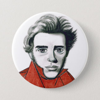 Kierkegaard Pin 7.6cm 丸型バッジ