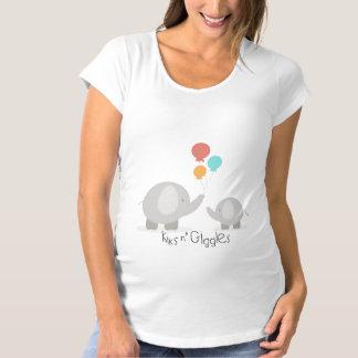 Kiksのnのくすくす笑いの母性のティー マタニティTシャツ