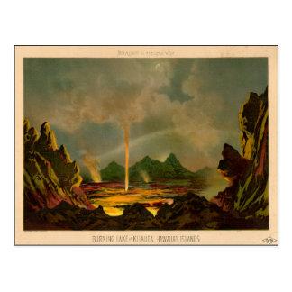 KILAUEA、1866年11月16日の素晴らしい火山 ポストカード