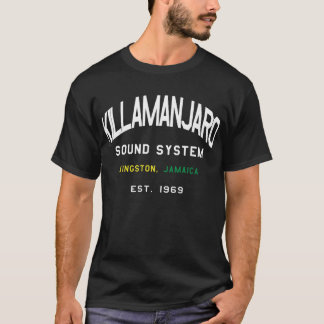 Killamanjaroのサウンド・システムジャマイカのTシャツ Tシャツ